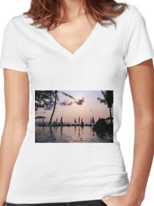 Relaxing Women's Fitted V-Neck T-Shirt