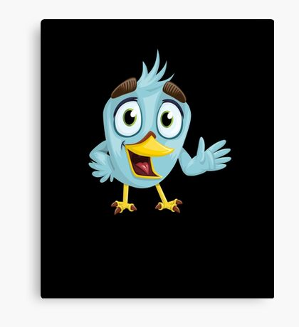Funny Lovely Vector Graphic Birds For Birds Animal Lovers Canvas Print
