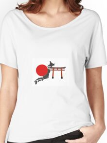 Japon, fond blanc Women's Relaxed Fit T-Shirt