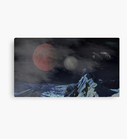 Skyrim - Masser and Secunda Canvas Print