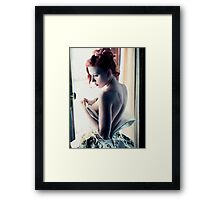 Scarlett Johansson - Film Grain Framed Print
