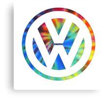 VW Logo Tie Dye Canvas Print