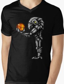 Chozo Holding Samus T-shirt - Standing Version Mens V-Neck T-Shirt