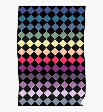 Colourful Diamonds Poster