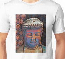 Buddha in Burnt Sienna and Blue Unisex T-Shirt