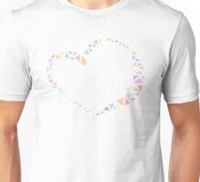 Pastel Heart Ribbon Unisex T-Shirt