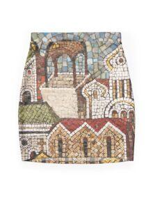 town mosaic Mini Skirt