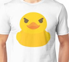 Emoji Rubber Duck Naughty Mischievous Look Unisex T-Shirt