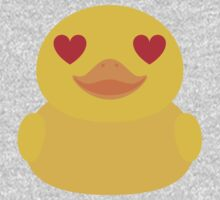 Emoji Rubber Duck with Love and Heart Eyes One Piece - Short Sleeve
