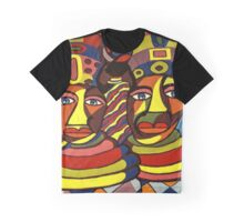 African Traditional Tribal Women Abstract Art Canvas Painting for Women, Girls, Ladies, Kids 1 Graphic T-Shirt