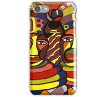 African Traditional Tribal Women Abstract Art Canvas Painting for Women, Girls, Ladies, Kids 1 iPhone Case/Skin