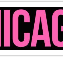 Chicago Pink and Black Sticker