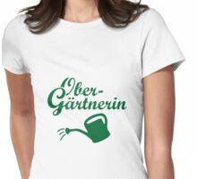 Obergärtnerin mit Gießkanne Garten Design Womens Fitted T-Shirt
