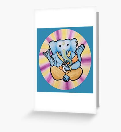 ganesh enjoys shakes Greeting Card