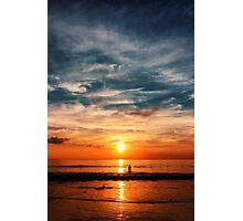 Epic sunset at the ocean Photographic Print