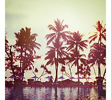 Tropical beach. Vintage instagram effect. Photographic Print