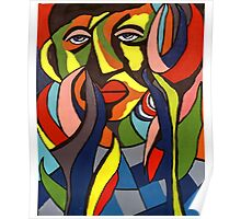 African Traditional Tribal Women Abstract Art Canvas Painting for Women, Girls, Ladies, Kids 3 Poster