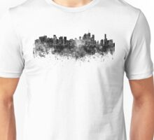 Brisbane skyline in black watercolor on white background Unisex T-Shirt