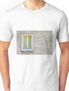 Framed window on a stone wall Unisex T-Shirt