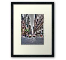 New York Streets Framed Print