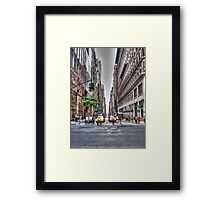 New York Streets Framed Print
