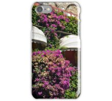 Windows with canopy on a green ivy facade iPhone Case/Skin