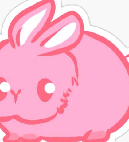 Cute Fat Pink Bunny Sticker