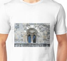 Classical window with ornaments on a stone wall Unisex T-Shirt