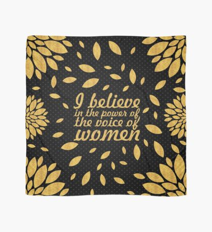 """I believe in... """"Malala"""" Inspirational Quote Scarf"""
