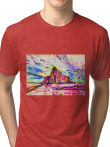 A Psychedelic Rock of Gibraltar Tri-blend T-Shirt