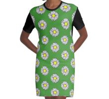 Daisy and Daisies Graphic T-Shirt Dress