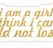 """Even if i... """"Malala"""" Inspirational Quote Sticker"""