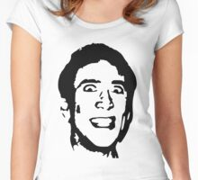 Nicolas cage Women's Fitted Scoop T-Shirt