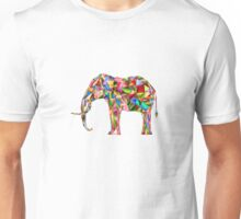 Elephant Love Vector Animinated Design Unisex T-Shirt