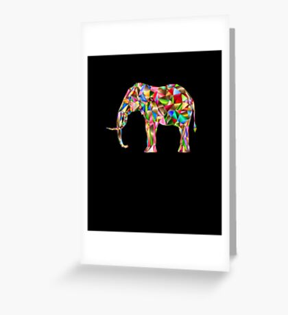 Elephant Love Vector Animinated Design Greeting Card