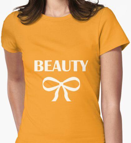 BEAUTY| HEIDI | WHITE Womens Fitted T-Shirt