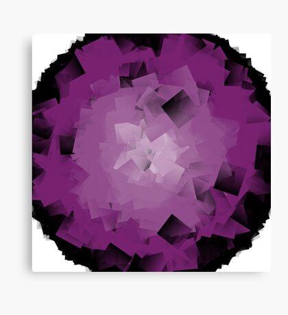 crumpled purple tissue Canvas Print