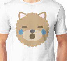 Emoji Dog Teary Eyes and Sad Look Unisex T-Shirt
