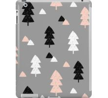 Winter Forest in Pink, Black, White and Gray iPad Case/Skin