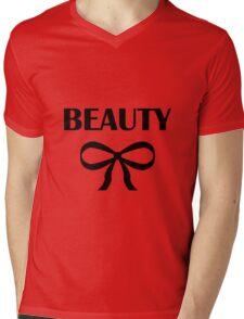 BEAUTY| HEIDI | BLACK Mens V-Neck T-Shirt