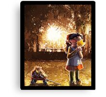 Childhood and automn Canvas Print