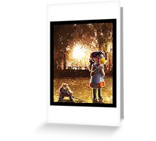 Childhood and automn Greeting Card