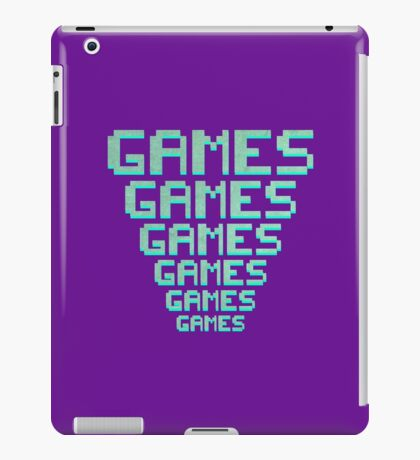 Games Games Games iPad Case/Skin