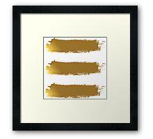Gold Brush Framed Print