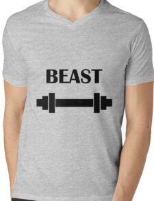 BEAST | eRiC |yELLOW Mens V-Neck T-Shirt