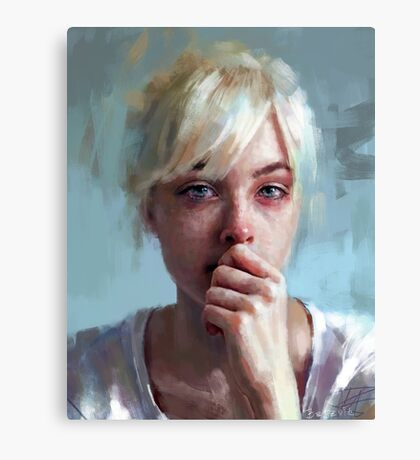 crying portrait Canvas Print