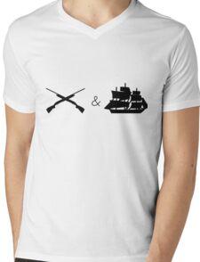 Guns and Ships Hamilton Mens V-Neck T-Shirt