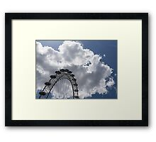 Color Coordinated Skyward View - the London Eye Against Dramatic Sky Framed Print