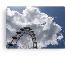 Color Coordinated Skyward View - the London Eye Against Dramatic Sky Canvas Print