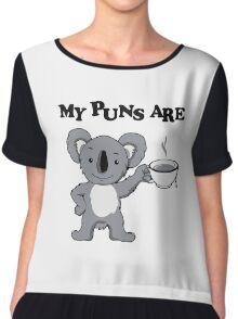 My Puns Are Koala Tee Chiffon Top